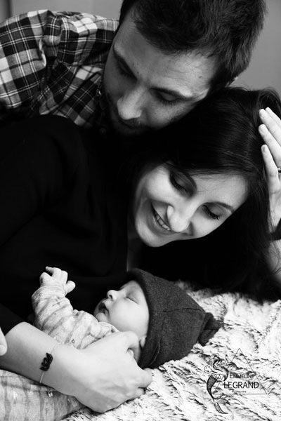 photo de Bébé avec ses parents à Toulouse
