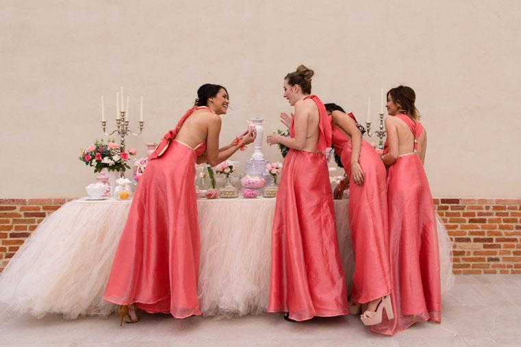 candy bar de mariage avec demoiselles d'honneur