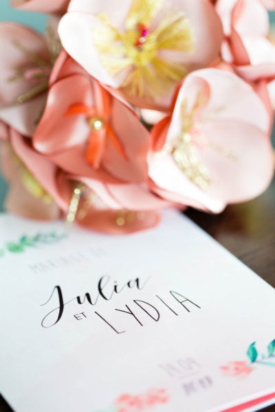 bouquet et livret de mariage
