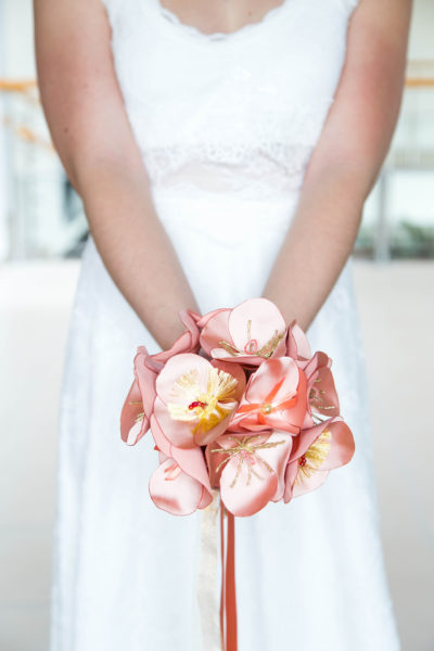 bouquet de la mariée en tissu